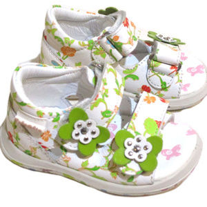 Naturino Infant Girl White Floral Sandals NEW 2Inf